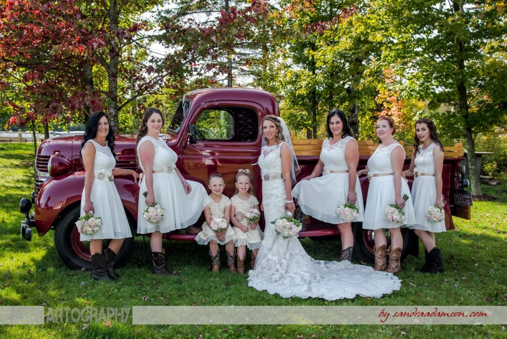 truro, salmon river, lower harmony, ns, nova scotia, wedding, photography, photographer, image, photo, bride, bridesmaids, flowergirl, old, antique, automobile