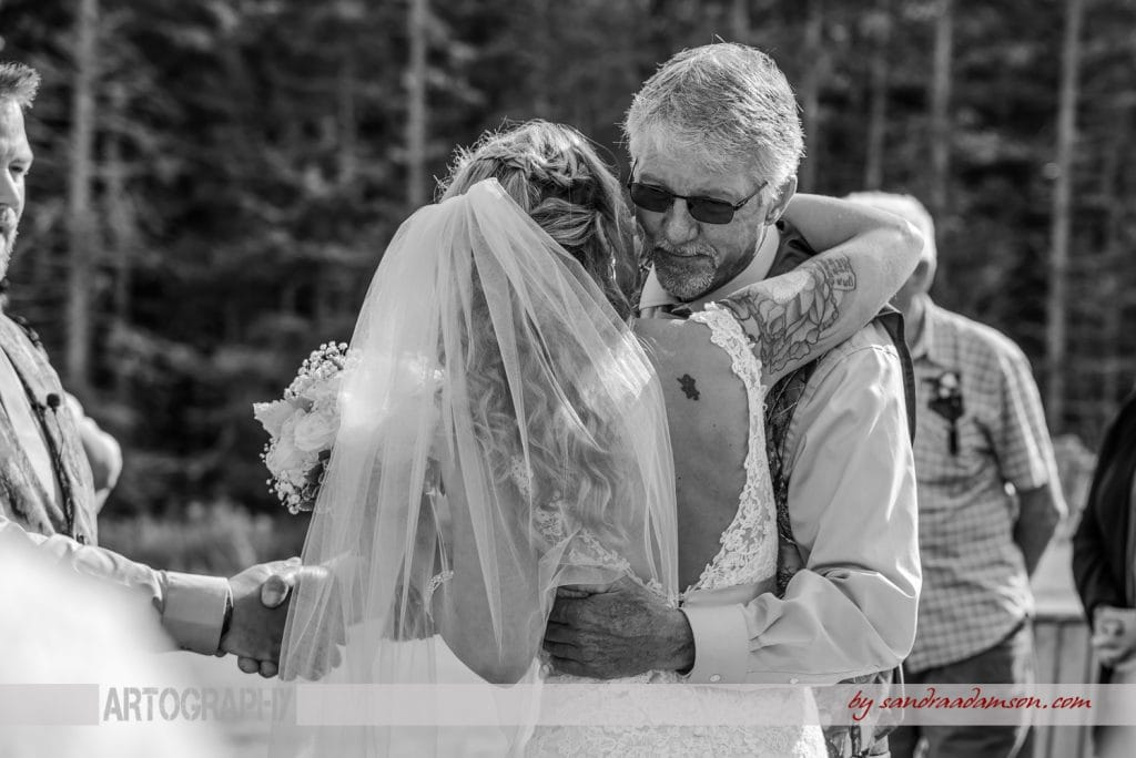 truro, salmon river, lower harmony, ns, nova scotia, wedding, photography, photographer, image, photo, bride, father of the bride, hug