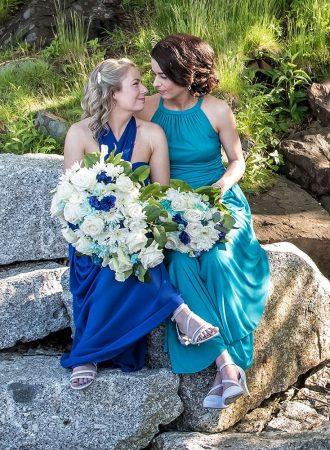 LGBT lesbian, gay wedding photos at Sir Sandford Fleming Park by the Dingle Tower in Halifax.