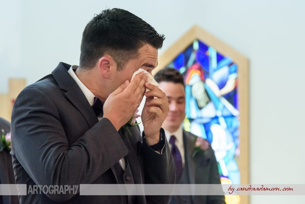 Halifax, Dartmouth, NS, Nova Scotia, wedding, photography, photographer, images, image, photo, photos, Juno tower, stadacona, groom, church, ceremony, crying