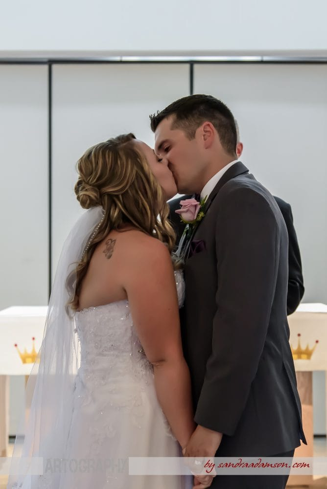 Halifax, Dartmouth, NS, Nova Scotia, wedding, photography, photographer, images, image, photo, photos, Juno tower, stadacona, bride, groom, church, ceremony, first kiss