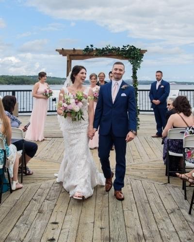 halifax ns wedding photographers, wedding photography halifax, DeWolfe Park, wedding ceremony, wedding recessional, bride and groom