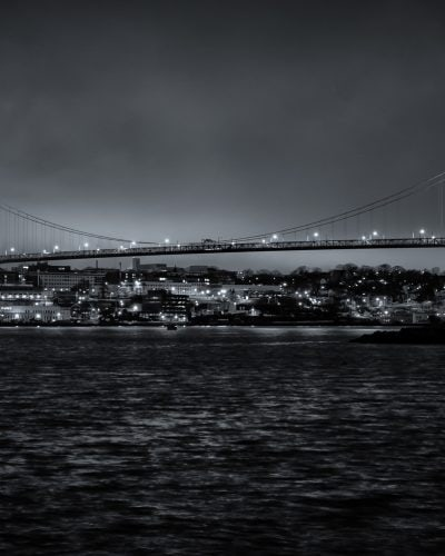 Nova Scotia photography fine art Angus Macdonald bridge night photography.
