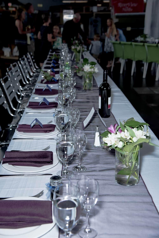Halifax Seaport Farmer's Market wedding head table