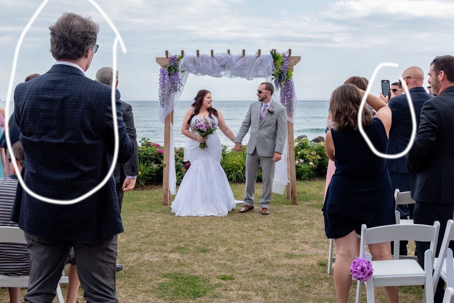 A White Point wedding and why you might want to consider and unplugged wedding ceremony.