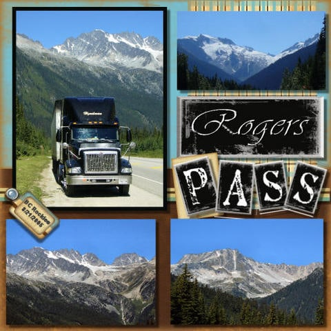 Halifax NS wedding photographer Sandra Adamson's life on the road as a long hauler on Rogers Pass in BC.