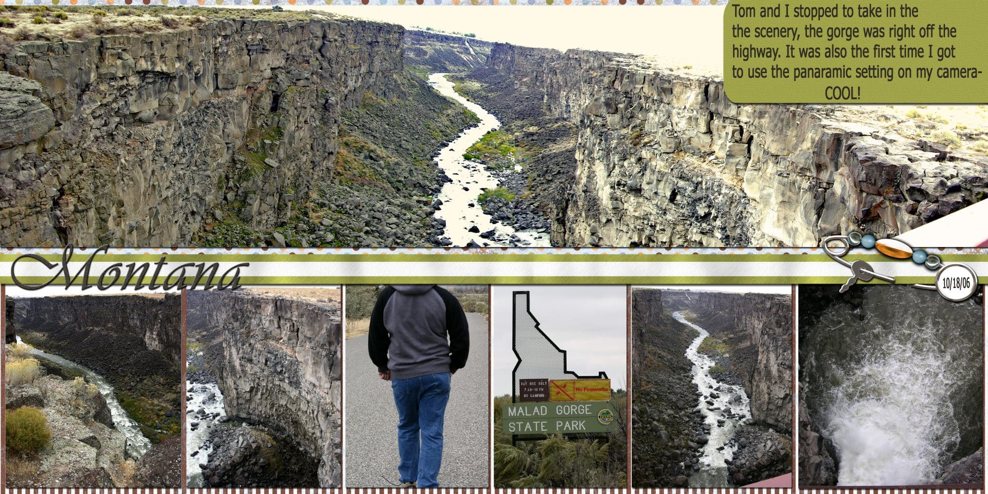 Halifax wedding photographer Sandra Adamson's life on the road as a long hauler in the Montana Malad Gorge.