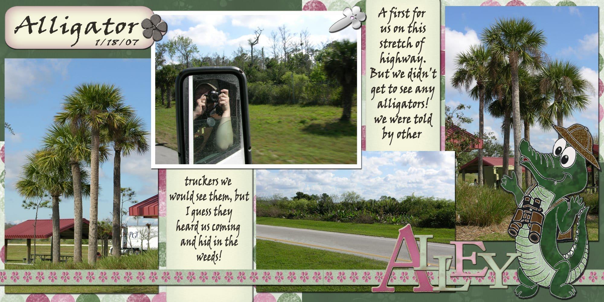 Halifax wedding photographer Sandra Adamson's life on the road as a long hauler driving through alligator alley in Florida.