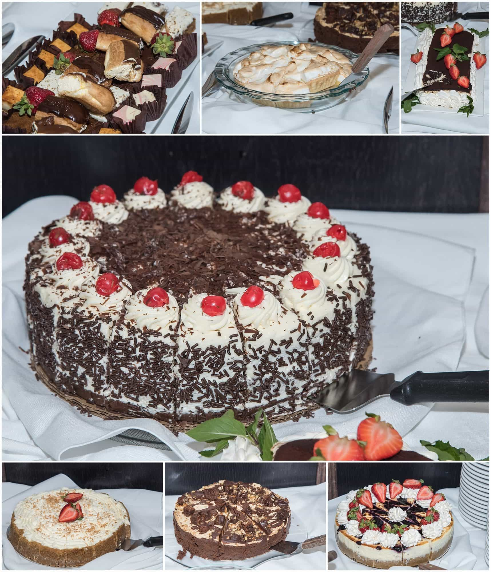 A dessert table set up during a wedding at the Best Western Chocolate Lake Hotel in Halifax, NS.