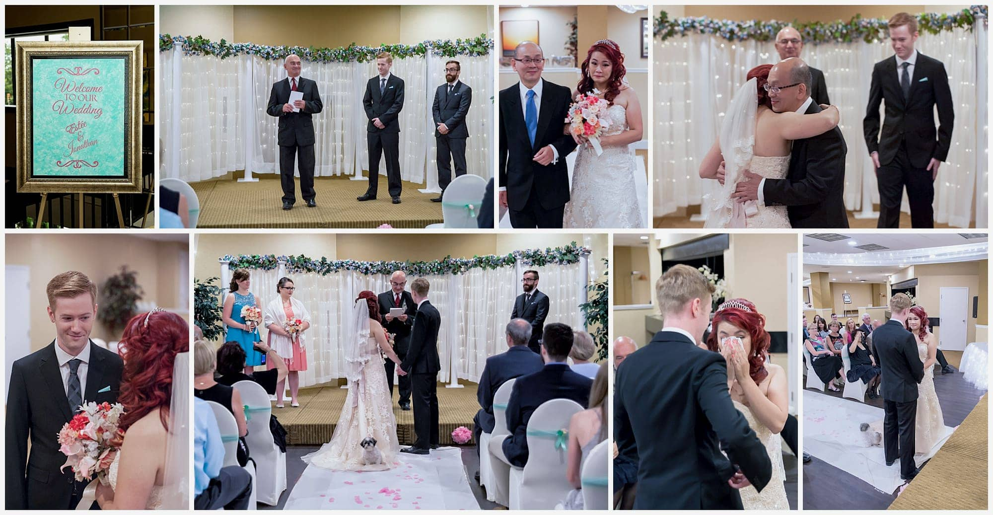 The Wedding ceremony of a bride and groom at the Atlantica Hotel in Halifax.