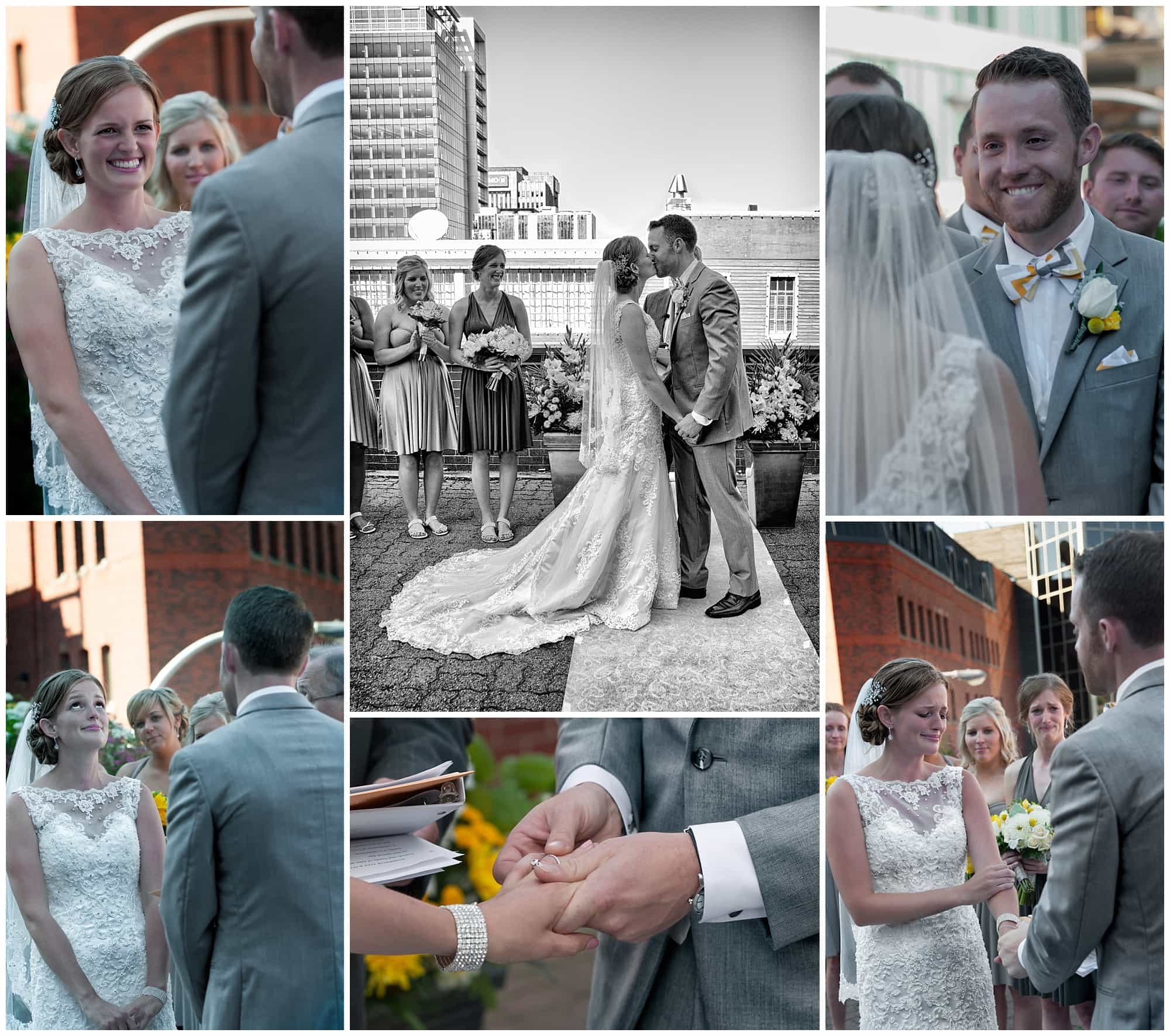 The bride and groom have many emotional moments during their wedding ceremony at Prince George Hotel in Halifax.
