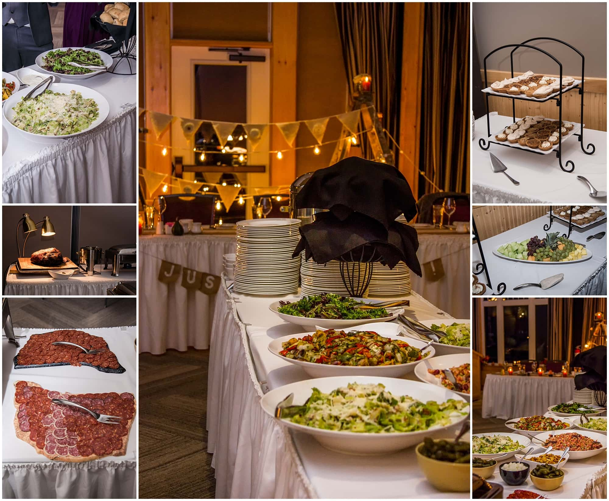 The buffet provided for a White Point Beach Resort Wedding.