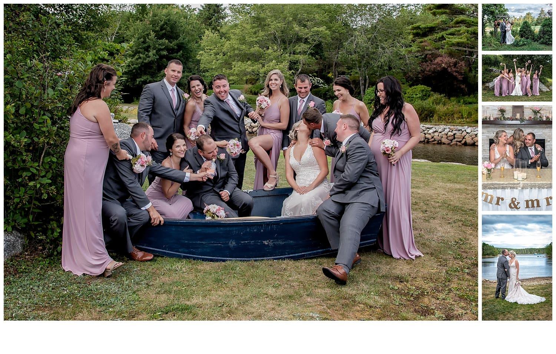 A backyard wedding with reception at Ashburn Golf Club in Halifax.