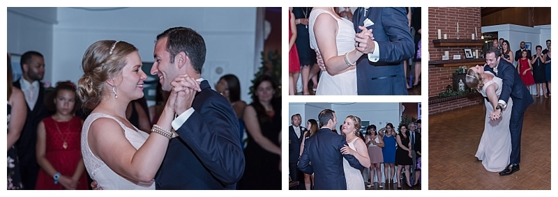 The bride and groom have their first dance together at a Saraguay House wedding in Halifax, NS.