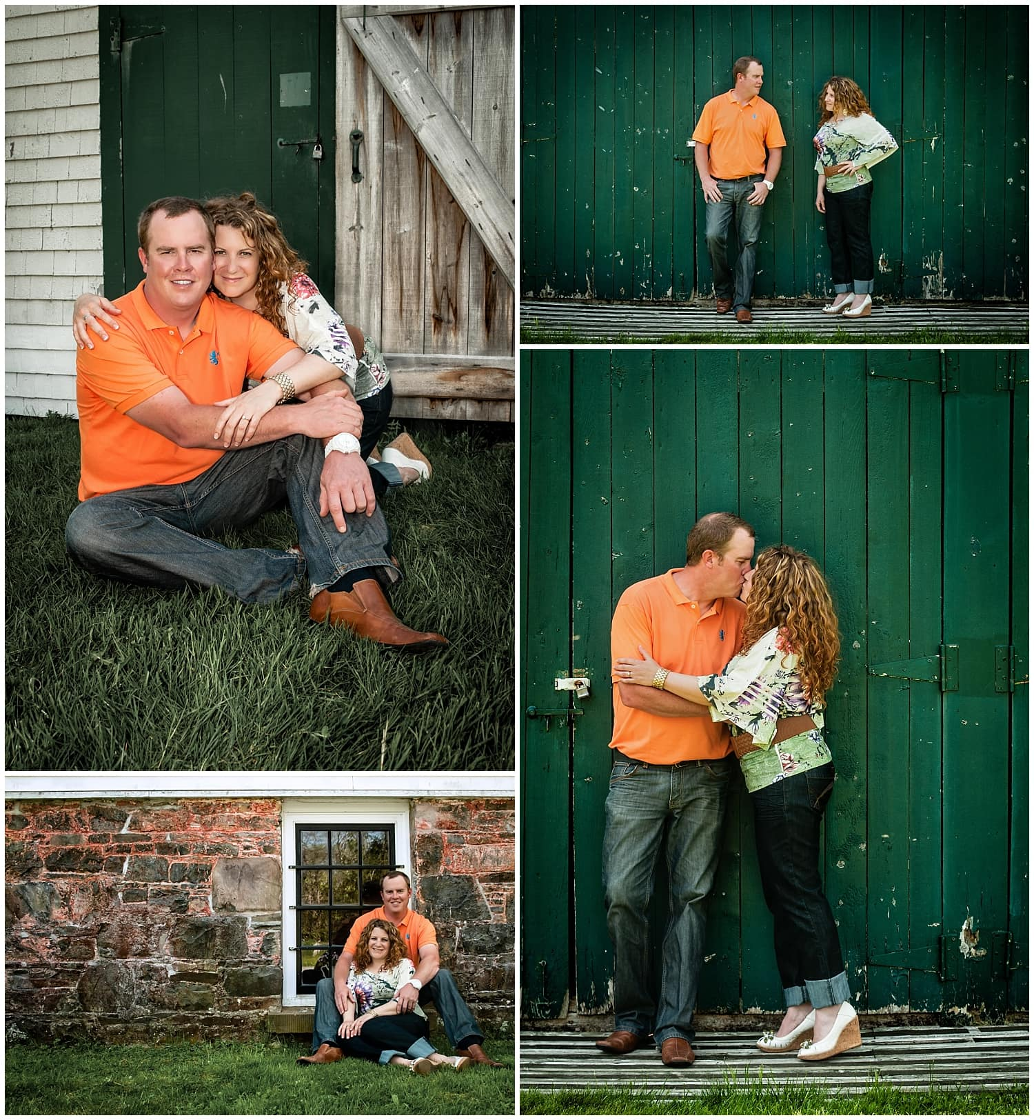 A couple in love having their engagement photos taken at the Mount Uniacke House in Nova Scotia.