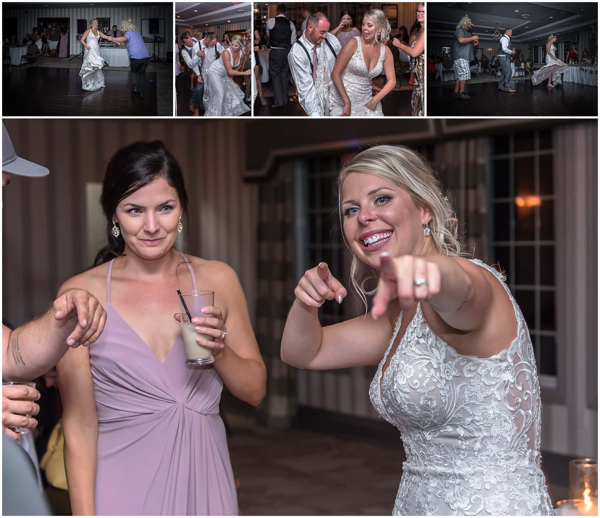 The bride and groom dancing with their guests during their wedding reception at the Ashburn Golf Club in Halifax, NS.