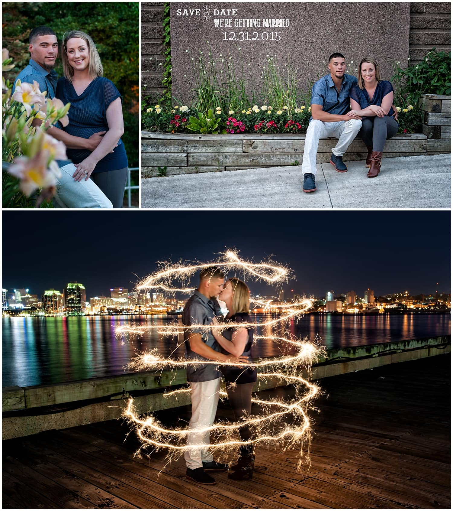 A couple in love on the dartmouth waterfront posing for engagement photos in Nova Scotia.