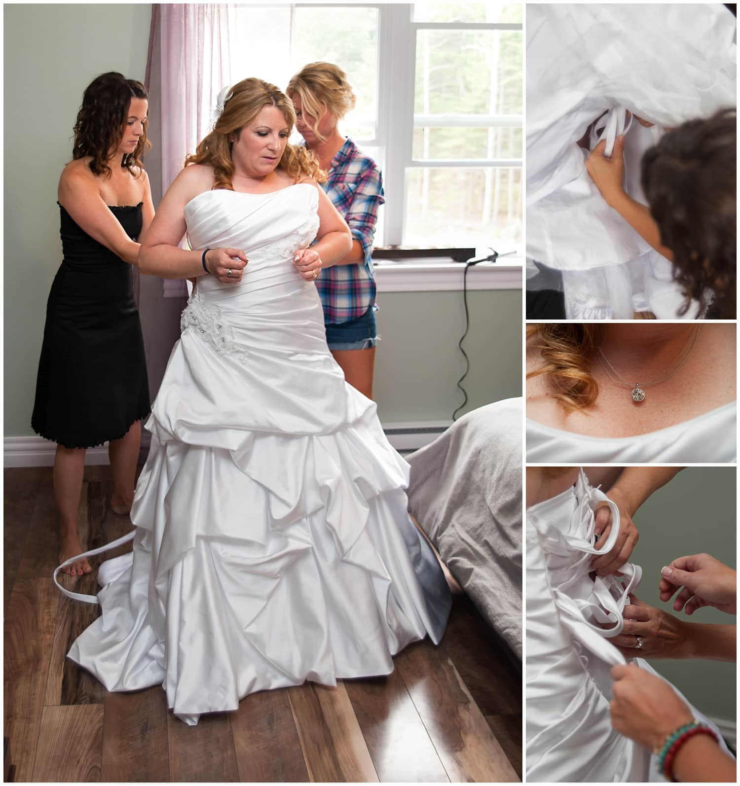 The bride getting ready during bridal prep for her Halifax NS wedding.