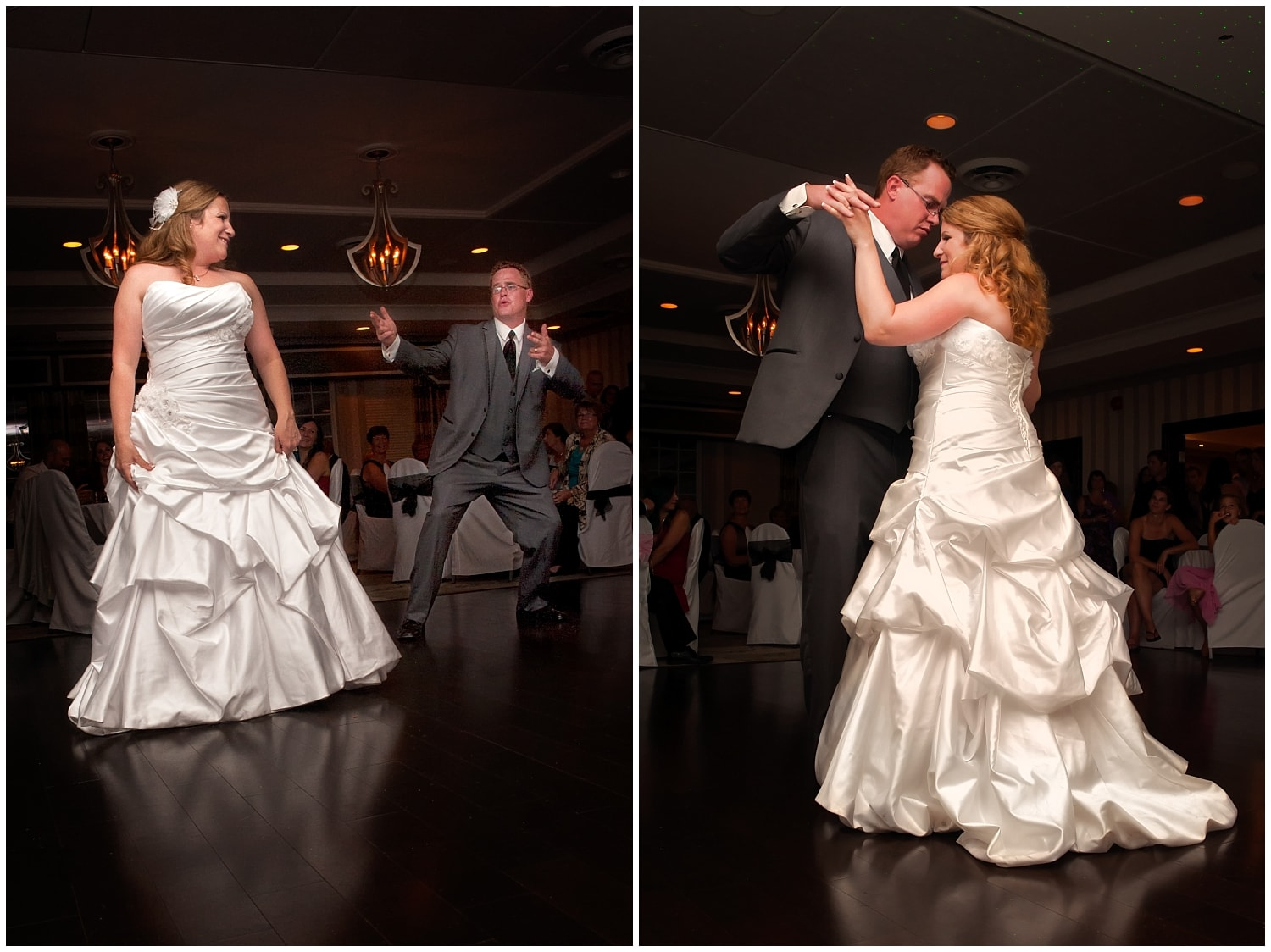 The bride and groom dance together during their wedding reception at the Ashburn Golf Club in Halifax NS.