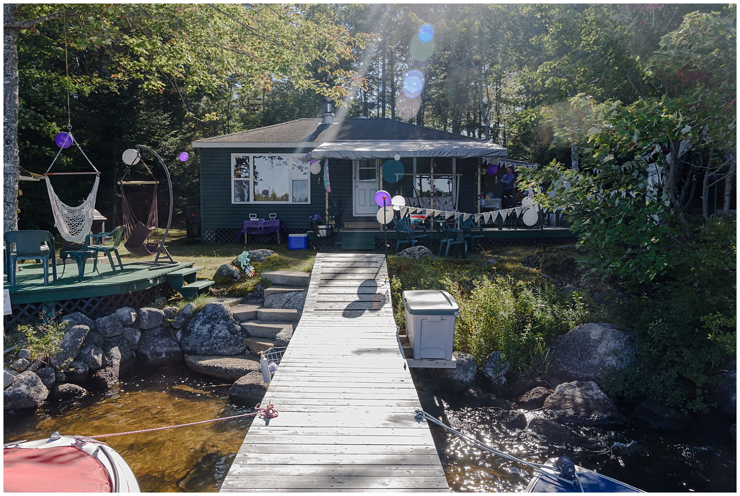 An intimate backyard cottage wedding in Hubbards Nova Scotia during covid.