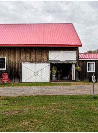The barn at Sadie Belle Farm for the wedding reception.