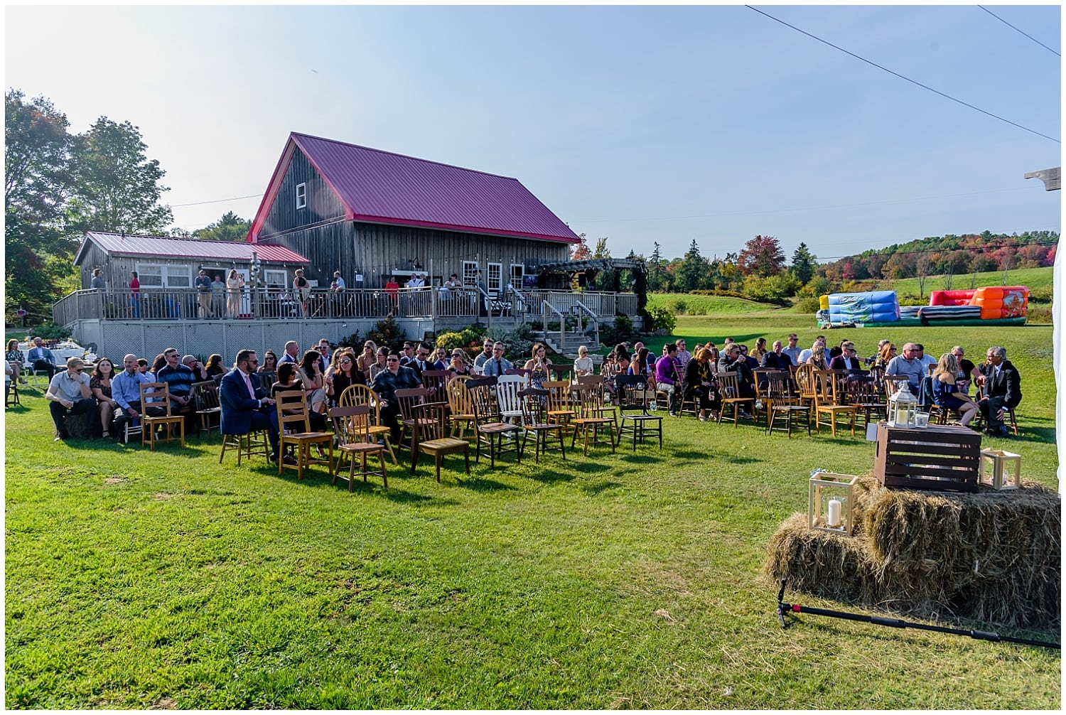 A wedding ceremony at the Barn at the Sadie Belle Farm in Hantsport NS.