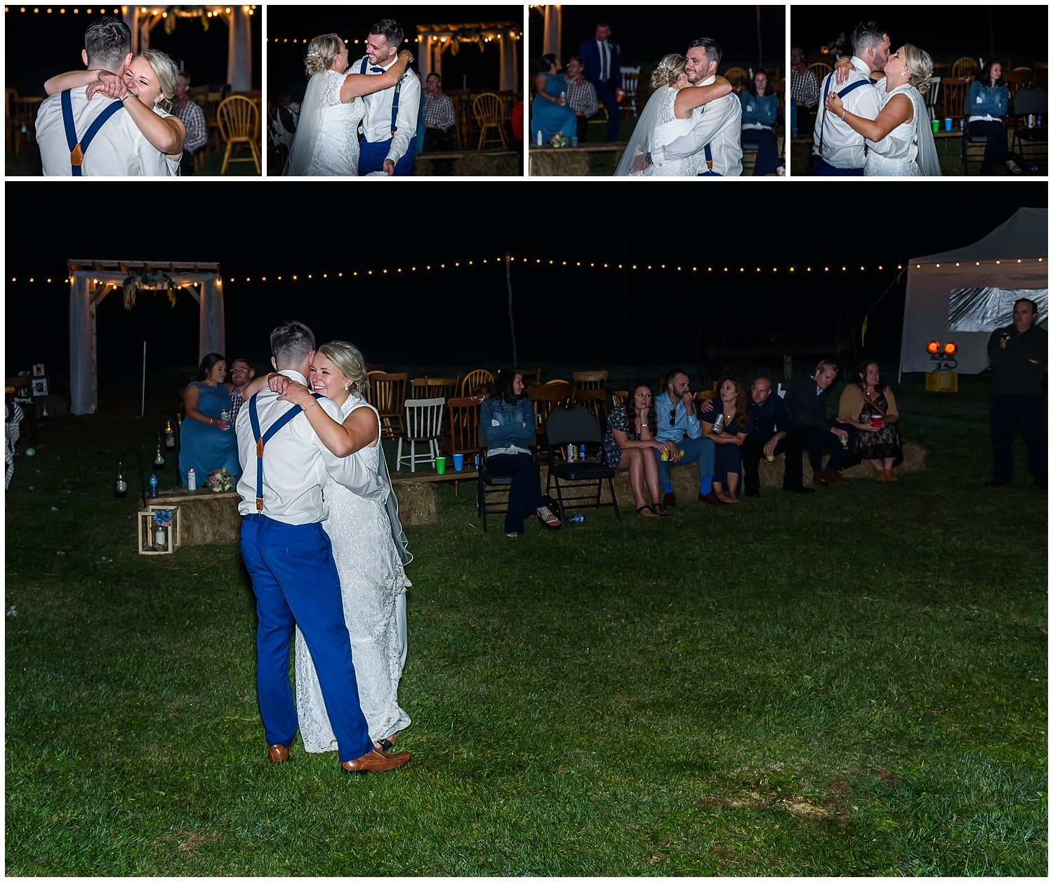 The bride and groom have their first dance during their wedding at the Barn at Sadie Belle Farm in Hantsport NS.